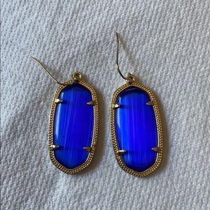 Kendra Scott - Small Drop Earrings - Blue.